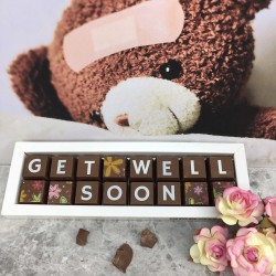 Get Well Soon Personalised Chocolate Gift