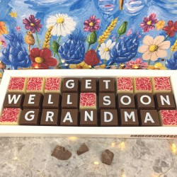 Personalised Get Well Soon Chocolate Gift