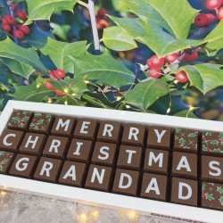 Personalised Christmas Chocolates for Grandad