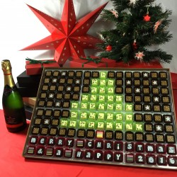 Huge Christmas Tree Box of Personalised Chocolates