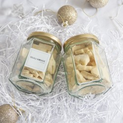 Vegan Mini Christmas Biscuit Jars