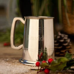 Traditional One Pint Pewter Tankard