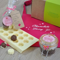 Dairy-Free Chocolate Making Kit with Apron and Personalised 'Made by......' Labels