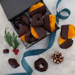 Festive Dipped Chocolate Fruit Gift Box