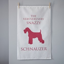 The Snazzy Schnauzer Tea Towel
