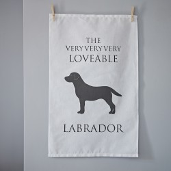 The Lovable Labrador Tea Towel