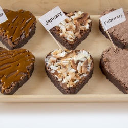 2 Chocolate Brownie Hearts Subscription (3 or 6 months)