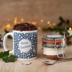 Vegan Personalised Merry Christmas Mug Cake Gift Set