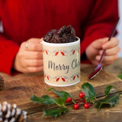 Personalised Robins Chocolate Mug Cake