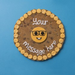 Geek Emoji Giant Chocolate Chip Cookie Card