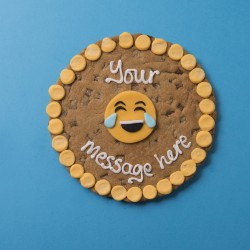 Laughing Emoji Giant Chocolate Chip Cookie Card
