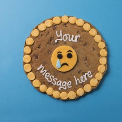 Sad Emoji Giant Chocolate Chip Cookie Card