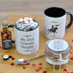 Personalised Alcohol-Infused Mug Cake Gift Set