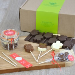 Personalised Chocolate Hearts Lollipops Making Kit for Valentines Day
