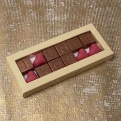 I Love You Chocolate Message