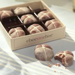 Mini Chocolate Hot Cross Buns