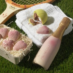 Chocolate Tennis Balls, Prosecco And Strawberries