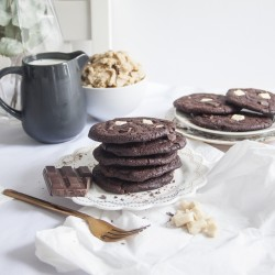 Vegan Double Chocolate Cookies