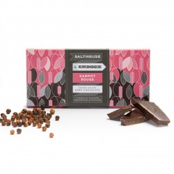 Salthouse Dark Chocolate infused with Mampot Rouge Peppercorns (2 x 60g)