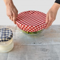 Gingham Bowl Covers