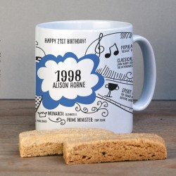 Personalised 21st Birthday 1998 Mug Gift