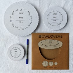 Pack of 3 Write on Wash Out Bowl Cover / Food Cover