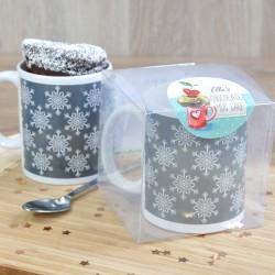 Scandi-Inspired Snowflakes Mug Cake Gift - Vegan, Dairy-Free, Gluten-Free & Low-Sugar Options