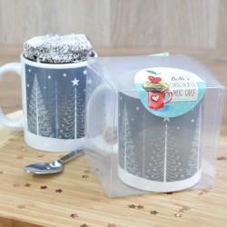 Scandi-Inspired Christmas Trees Mug Cake Gift - Vegan, Dairy-Free, Gluten-Free & Low-Sugar Options