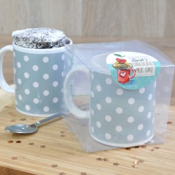 Spotty Dotty Chocolate Mug Cake with Personalisation