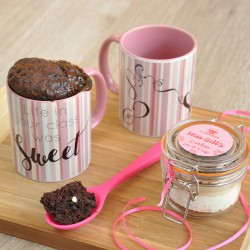 Teacher Gift Chocolate Mug Cake Kit Personalised with Teacher's Name (Gluten-Free, Dairy-Free, Vegan & Low Sugar Options)