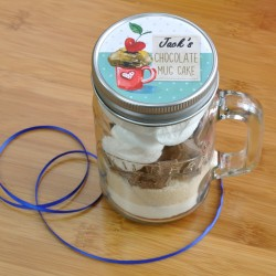 Chocolate Mug Cake in a Kilner Jar (Vegan, Dairy-Free, Gluten-Free, Low-Sugar & Regular Recipes Available)