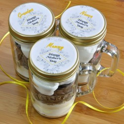 Mothers Day Personalised Chocolate Cake in a Kilner Jar (Regular or Special Diet Options Available)