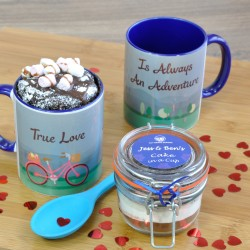Vegan Valentines Chocolate Mug Cake Gift with Personalisation