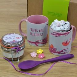 'Mums Are Precious' Chocolate Mug Cake Gift with Personalisation