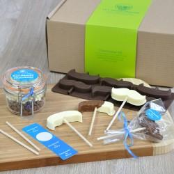 Chocolate Moustache Lollipops Making Kit for Dad or Grandad