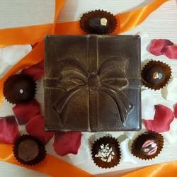 Square Chocolate Box with 12 Chocolates