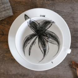 Fine Bone China Cappuccino Cup & Saucer - Stargazer & Cinnamon