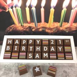 Personalised 21st Birthday Chocolate Gift