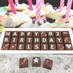 Personalised 80th Birthday Chocolate Gift