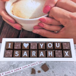 Personalised I LOVE YOU Box of Chocolates (Classic Font)