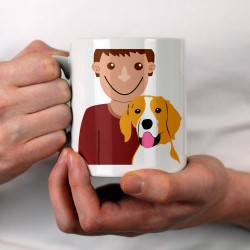 Personalised Dog Dad Mug (many breeds available)