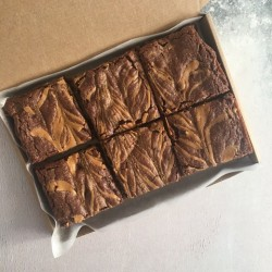 Chocolate Peanut Butter Vegan Brownies (Box of 6)