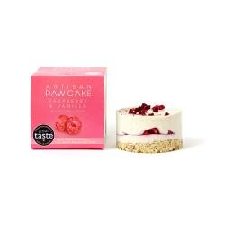 12 Raspberry & Vanilla Raw Cakes