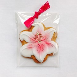 Pink Star Gazer Lily Biscuit Favours