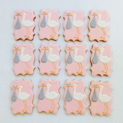 Stork Iced Biscuit Favours (Choice of Colour) - price is per biscuit