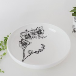 Fine Bone China Pasta Bowl - Floral Decadence