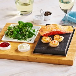 The Steak, Sides & Sauces Hot Stone Cooking Set