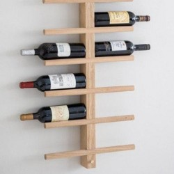 Vertical Oak Wine Rack