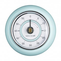 Retro Look Blue Magnetic Kitchen Timer