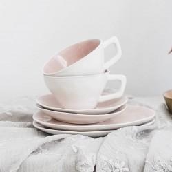 Blush Pink Porcelain Cup And Saucer Gift Set